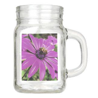 Honey Bee On a Spring Flower Mason Jar