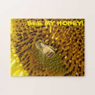 Honey Bee On a Sunflower Jigsaw Puzzle
