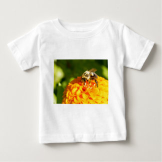 Honey Bee  Orange Yellow Flower With Pollen Sacs Baby T-Shirt