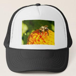 Honey Bee  Orange Yellow Flower With Pollen Sacs Trucker Hat