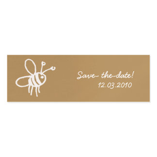 Honey Bee Pack Of Skinny Business Cards