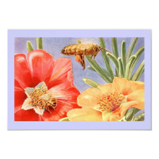 Honey Bee Poppy Flower Save The Date Announcements