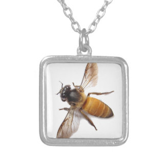 Honey Bee Silver Plated Necklace