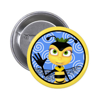 Honey Bee Toon Button