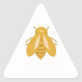 Honey Bee Triangle Sticker