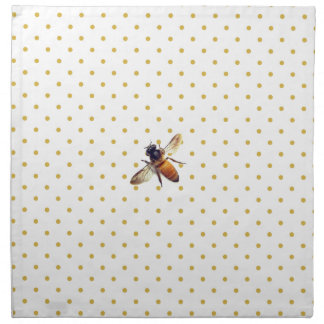 Honey Bee with gold polka-dots Napkin