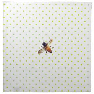 Honey Bee with green polka-dots Napkin