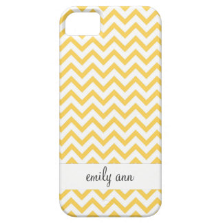 Honey Bee Yellow Chevrons Pattern Case For The iPhone 5