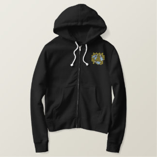 Honey Bees Embroidered Hoodie