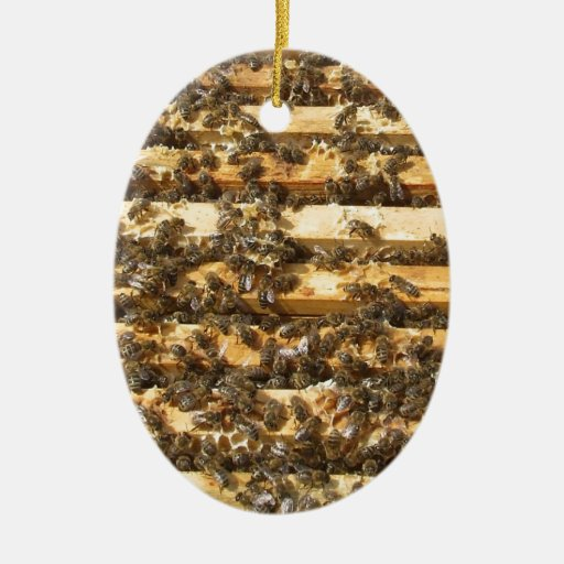 Honey Bees everywhere Christmas Ornaments