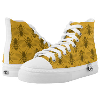 Honey Bees HIgh Top Canvas Shoes
