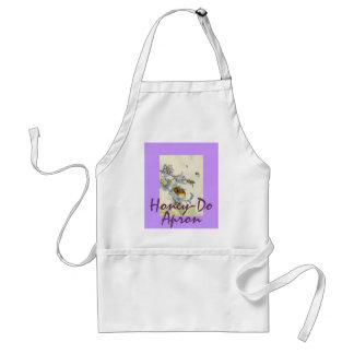 Honey Bees & Morning Glory Flowers EZ2 Customize Adult Apron