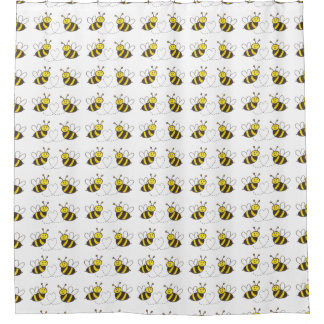 Honey Bees with Heart for your Shower Shower Curtain