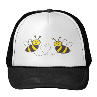 Honey Bees with Heart Hats