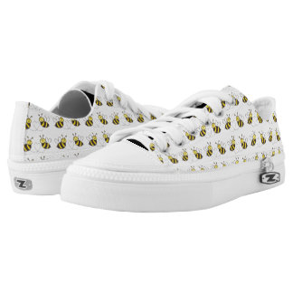 Honey Bees with Heart Yellow Black White Shoes