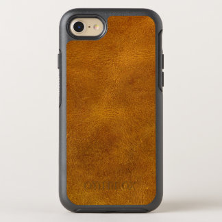 Honey Buckskin Leather Fine Grain Amber Mustard OtterBox Symmetry iPhone 8/7 Case