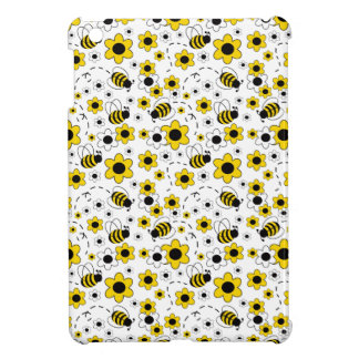 Honey Bumble Bee Bumblebee White Yellow Floral iPad Mini Cases