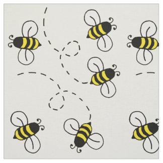 Honey Bumble Bee Sunny Yellow Nature Fabric