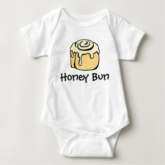 Honey Bun Cinnamon Roll Cute Cartoon Design Baby Bodysuit