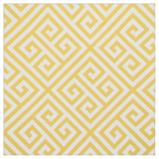 Honey Butter Greek Key Pattern Fabric