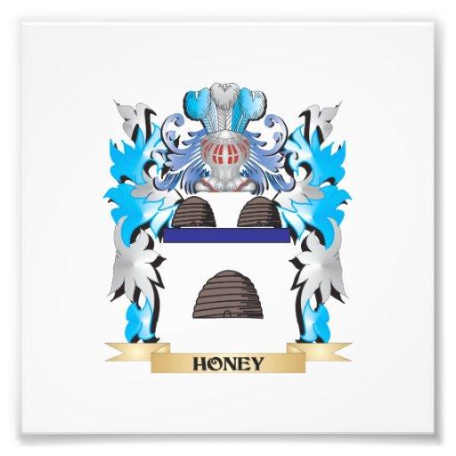Honey Coat of Arms - Family Crest Photo Print