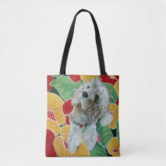 Honey Cocker Spaniel Dog Painting Tote Bag