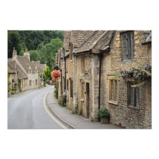 Honey coloured cottages in Castle Combe, UK Photo Print