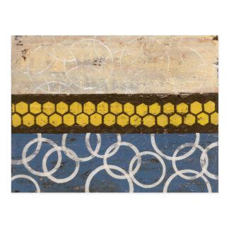 Honey Comb Abstract I Postcard