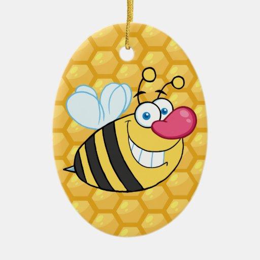 Honey Comb Bee Ornaments