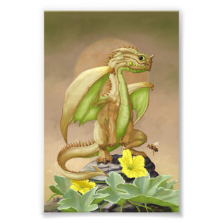 Honey Dew Dragon 4x6 Print