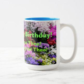Honey Happy Birthday! Two-Tone Coffee Mug