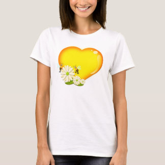 Honey heart, Bees and Flowers T-Shirt