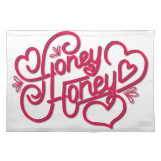 HONEY HONEY CALLIGRAPHY PLACEMAT