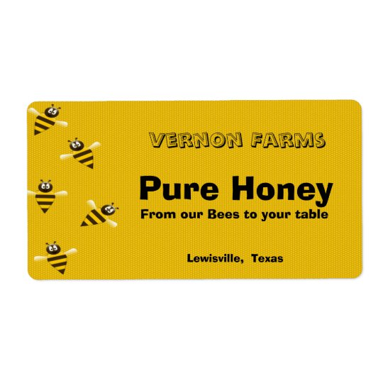 Honey Jar Label Shipping Label