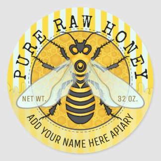 Honey Jar Labels | Honeybee Honeycomb Bee Apiary