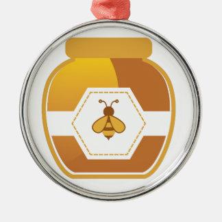 Honey Jar Metal Ornament
