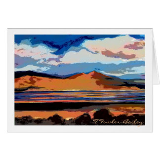 Honey Lake Sunset watercolor Card