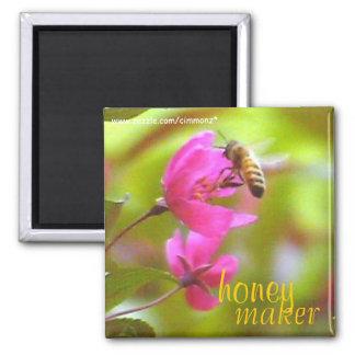Honey Maker Square Magnet