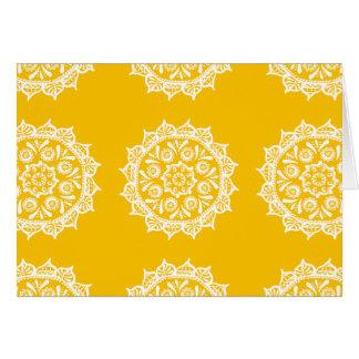 Honey Mandala Card