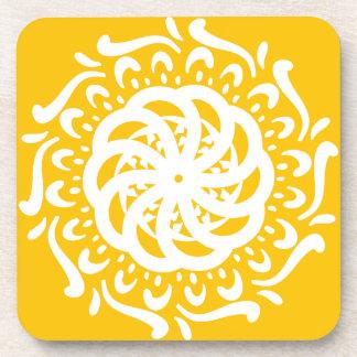 Honey Mandala Coaster