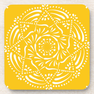Honey Mandala Coaster