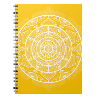 Honey Mandala Spiral Notebook