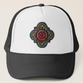 Honey nest - nature manadala spider & bee trucker hat