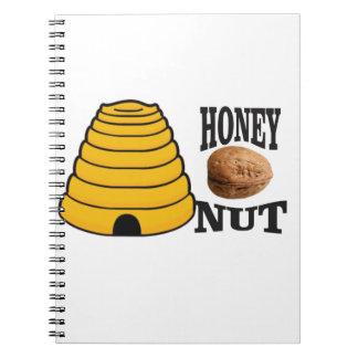 honey nut spiral notebook