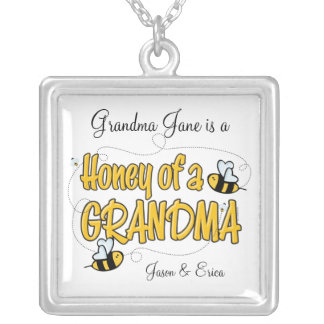 Honey of a Grandma Personalized Necklace