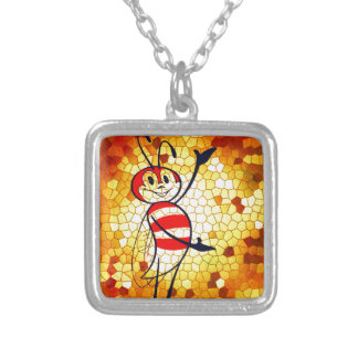 HONEY OF A HOME SILVER PLATED NECKLACE