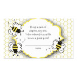 Honey or bumble bee raffle ticket or insert card pack of standard business cards