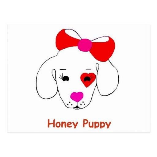 Honey Puppy  Postcard