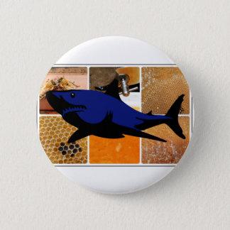 Honey Shark 6 Cm Round Badge