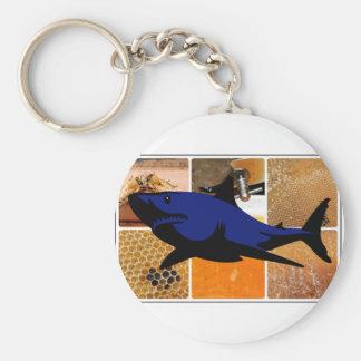 Honey Shark Key Ring